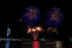 Πυροτεχνήματα Gunwharf, Πόρτσμουθ Στοκ εικόνα με δικαίωμα ελεύθερης χρήσης