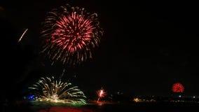 Πυροτεχνήματα koh στο samui Στοκ Εικόνες