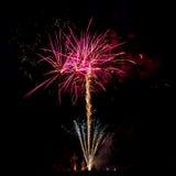 Πυροτεχνήματα Profesional με την άποψη του σταθμού φυσήματος Στοκ εικόνες με δικαίωμα ελεύθερης χρήσης