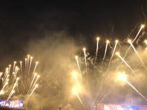 Πυροτεχνήματα Racecourse Shatin Στοκ Φωτογραφία
