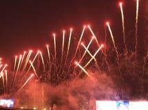 Πυροτεχνήματα Racecourse Shatin Στοκ Εικόνες