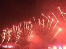 Πυροτεχνήματα Racecourse Shatin Στοκ φωτογραφίες με δικαίωμα ελεύθερης χρήσης