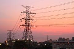 Πυλώνας ηλεκτρικής ενέργειας υψηλής τάσης Στοκ Φωτογραφίες