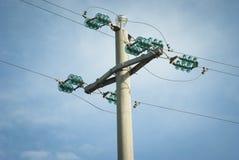 Πυλώνας ηλεκτροφόρων καλωδίων Στοκ Εικόνα