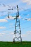 πυλώνας ισχύος γραμμών Στοκ φωτογραφία με δικαίωμα ελεύθερης χρήσης
