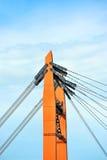 Πυλώνας και ουρανός γεφυρών Στοκ Εικόνες
