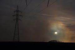 Πυλώνας στο ηλιοβασίλεμα Στοκ εικόνες με δικαίωμα ελεύθερης χρήσης