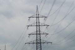 Πυλώνας Electriciti Στοκ Εικόνα