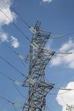 Πυλώνες και γραμμή ηλεκτρικής ενέργειας Στοκ εικόνες με δικαίωμα ελεύθερης χρήσης