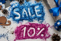Πωλήσεις στα Χριστούγεννα και τις νέες διακοπές έτους Στοκ φωτογραφίες με δικαίωμα ελεύθερης χρήσης