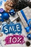 Πωλήσεις στα Χριστούγεννα και τις νέες διακοπές έτους Στοκ Εικόνα