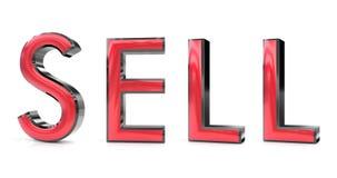 Πωλήστε την τρισδιάστατη λέξη διανυσματική απεικόνιση