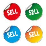 Πωλήστε το καθορισμένο εικονίδιο αυτοκόλλητων ετικεττών χρώματος Στοκ Εικόνες