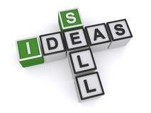 Πωλήστε το σταυρόλεξο ιδεών ελεύθερη απεικόνιση δικαιώματος