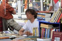 πωλητής αγοράς βιβλίων Στοκ φωτογραφία με δικαίωμα ελεύθερης χρήσης