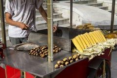 Πωλητής καλαμποκιού στοκ φωτογραφία με δικαίωμα ελεύθερης χρήσης