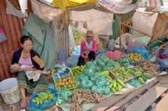 πωλεί τη γυναίκα λαχανικώ& Στοκ φωτογραφία με δικαίωμα ελεύθερης χρήσης