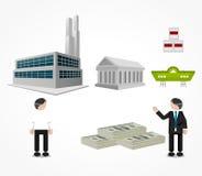 Πωλητές και αγοραστές στην τελωνειακή αποταμίευση διανυσματική απεικόνιση
