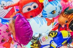 Πωλητές μπαλονιών στη Μαδρίτη Στοκ εικόνα με δικαίωμα ελεύθερης χρήσης