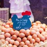 Πωλητής αυγών Στοκ εικόνες με δικαίωμα ελεύθερης χρήσης