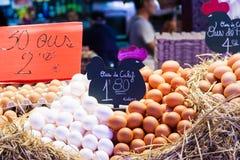Πωλητής αυγών Στοκ Εικόνες