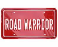 Πωλητής επιχειρησιακών ταξιδιωτών πινακίδων αριθμού κυκλοφορίας λέξεων οδικών πολεμιστών Στοκ Εικόνα