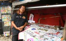Πωλητής εφημερίδων στοκ φωτογραφία με δικαίωμα ελεύθερης χρήσης