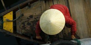 Πωλητής στη βάρκα Στοκ φωτογραφίες με δικαίωμα ελεύθερης χρήσης