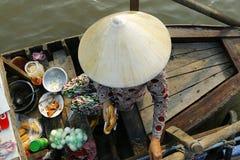 Πωλητής στη βάρκα Στοκ Εικόνες