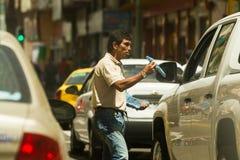 Πωλητής τσαντών απορριμάτων στοκ εικόνες με δικαίωμα ελεύθερης χρήσης