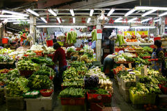Πωλώντας λαχανικά ενός υγρά μάρκετινγκ Στοκ Εικόνα