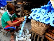Πωλώντας εγχώρια ντεκόρ καταστημάτων στη dapitan πόλη της Μανίλα arcade, Φιλιππίνες στην Ασία Στοκ Εικόνα