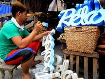 Πωλώντας εγχώρια ντεκόρ καταστημάτων στη dapitan πόλη της Μανίλα arcade, Φιλιππίνες στην Ασία Στοκ φωτογραφία με δικαίωμα ελεύθερης χρήσης