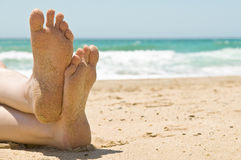 πόδια αμμώδη Στοκ φωτογραφία με δικαίωμα ελεύθερης χρήσης
