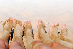 πόδια αμμώδη Στοκ εικόνες με δικαίωμα ελεύθερης χρήσης