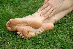 πόδια γυναικών Στοκ Φωτογραφία