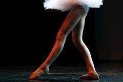 Πόδια ενός επαγγελματικού κλασικού μπαλέτου στοκ εικόνα
