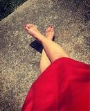 Πόδια ενός κοριτσιού στοκ εικόνες