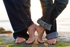 πόδια ηλιοβασιλέματος Στοκ φωτογραφία με δικαίωμα ελεύθερης χρήσης