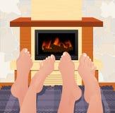 πόδια θέρμανσης Στοκ φωτογραφία με δικαίωμα ελεύθερης χρήσης