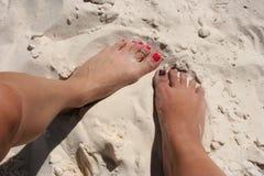 πόδια θηλυκών Στοκ Εικόνες