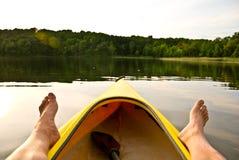 πόδια λιμνών καγιάκ Στοκ Εικόνες