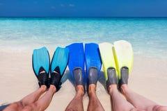 Πόδια με τα πτερύγια στοκ φωτογραφία με δικαίωμα ελεύθερης χρήσης