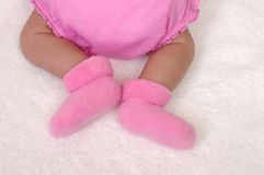 πόδια μωρών νεογέννητα Στοκ Εικόνα