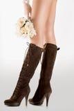 πόδια μόδας μποτών μακριά στοκ φωτογραφίες με δικαίωμα ελεύθερης χρήσης