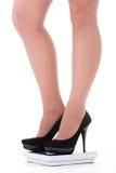 πόδια παπουτσιών κλίμακας Στοκ εικόνες με δικαίωμα ελεύθερης χρήσης