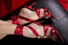 πόδια προκλητικών παπουτσιών womans Στοκ Εικόνα