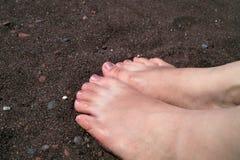 Πόδια στην άμμο Στοκ Φωτογραφία
