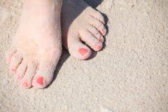 Πόδια της Νίκαιας στο ύδωρ Στοκ Φωτογραφία