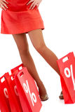 πόδια τσαντών στοκ εικόνα με δικαίωμα ελεύθερης χρήσης